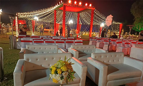 Decoration and Seating Arrangement